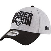 New Era Men's Oakland Raiders 2018 NFL Draft 39Thirty Stretch Fit Grey Hat
