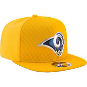 New Era Men's Los Angeles Rams Color Rush 2017 On-Field 9Fifty Snapback Adjustable Hat