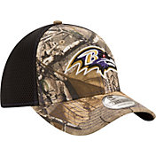 New Era Men's Baltimore Ravens Real Tree Neo 39Thirty Camouflage Stretch Fit Hat