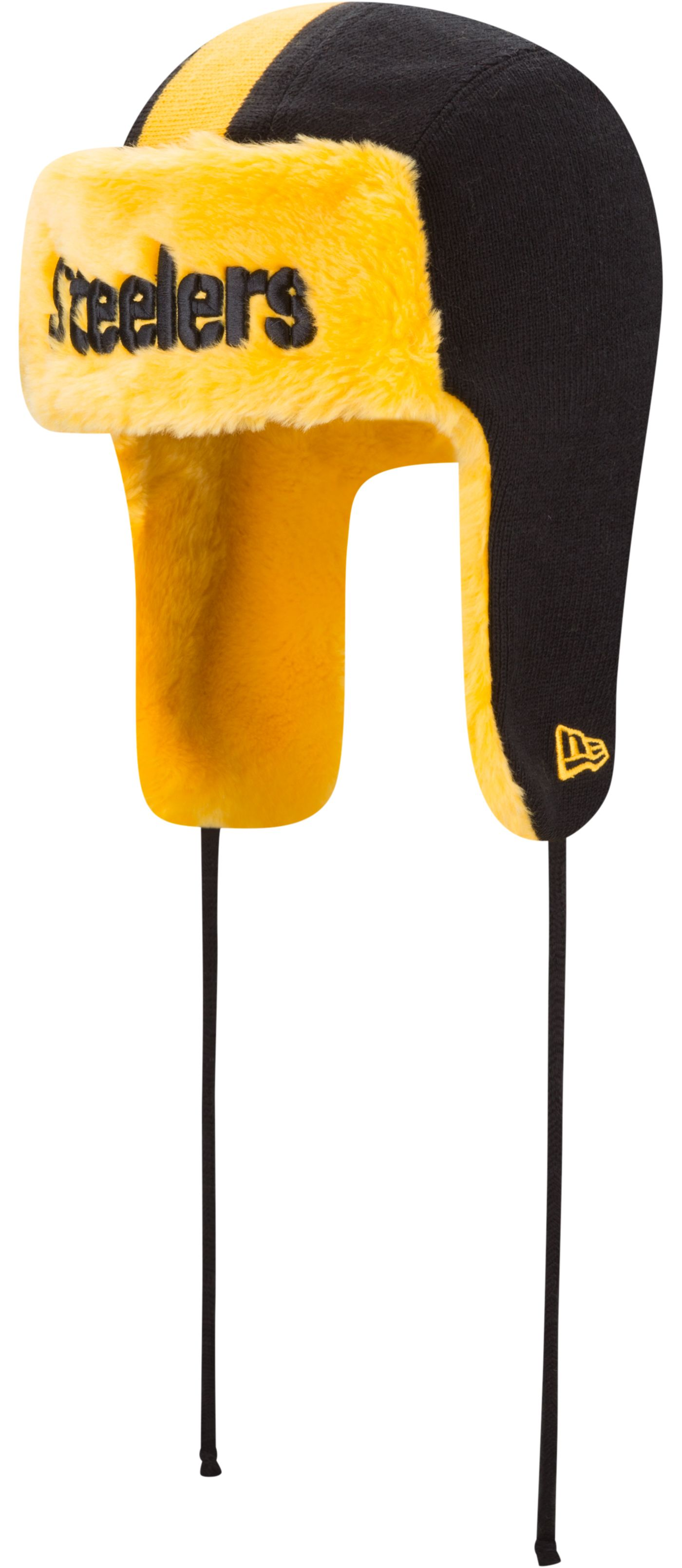 New Era Men's Pittsburgh Steelers Helmet Head Trapper Knit