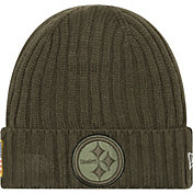 New Era Men's Pittsburgh Steelers Salute to Service 2017 Knit Hat