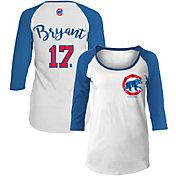 New Era Women's Chicago Cubs Kris Bryant #17 Three-Quarter Sleeve Shirt