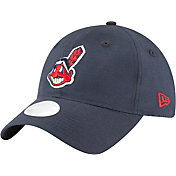 New Era Women's Cleveland Indians 9Twenty Team Linen Adjustable Hat