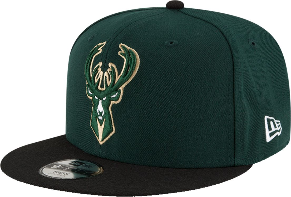 New Era Youth Milwaukee Bucks 9Fifty Adjustable Snapback Hat, Kids Unisex, Size: One size