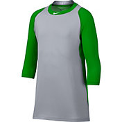 Nike Boys' Pro Cool Reglan ¾-Sleeve Baseball Shirt