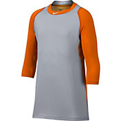 Nike Boys' Pro Cool Reglan ¾-Sleeve Baseball Shirt