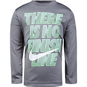 Nike Little Boys' Dry No Finish Line Graphic Long Sleeve Shirt