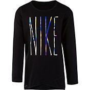 Nike Little Girls' Sport Essentials Dri-FIT Crossover Tunic Long Sleeve Shirt