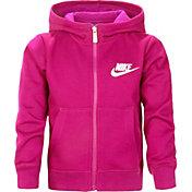 Nike Little Girls' Club Graphic Full Zip Hoodie