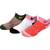 Nike Girls' Tribal Low Cut Socks 3 Pack