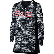 Nike Girls' Breathe Elite Printed Long Sleeve Basketball Shirt
