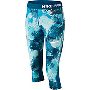 Nike Girls' Pro Chalkdust Printed Capris
