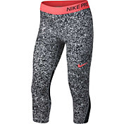 Nike Pro Girls' Gravel Print Training Capris