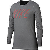 Nike Girls' Pro Warm Long Sleeve Graphic T-Shirt