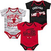 NBA Infant Chicago Bulls 3-Piece Onesie Set