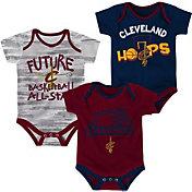 NBA Infant Cleveland Cavaliers 3-Piece Onesie Set