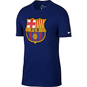 Nike Men's FC Barcelona Crest Blue T-Shirt