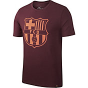Nike Men's Barcelona Maroon Crest T-Shirt