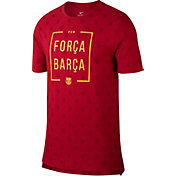 Nike Men's Barcelona Spring 18 Graphic Red T-Shirt
