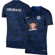 Nike Mens Chelsea FC Breathe Squad Blue Training Shirt