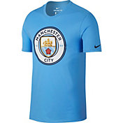 Nike Men's Manchester City Crest Blue T-Shirt