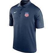 Nike Men's USA Hockey Crest Navy Performance Polo