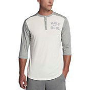 Nike Men's Flux ¾ Sleeve Henley Baseball Top