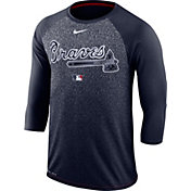 Nike Men's Atlanta Braves Dri-FIT Authentic Collection Legend Three-Quarter Sleeve Shirt