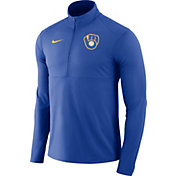 Nike Men's Milwaukee Brewers Dri-FIT Element Half-Zip Jacket