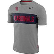 Nike Men's St. Louis Cardinals Dri-FIT Stripe Wordmark T-Shirt