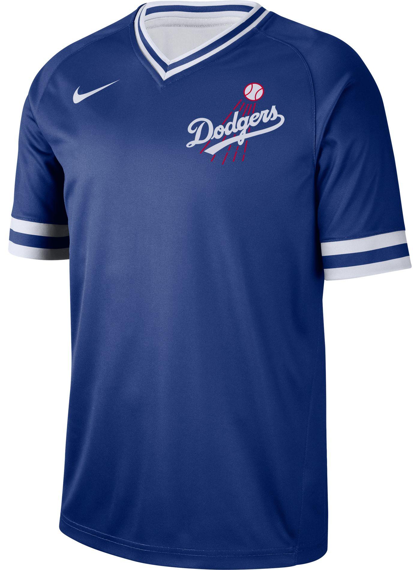 Nike Men's Los Angeles Dodgers Cooperstown V-Neck Pullover Jersey