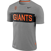 Nike Men's San Francisco Giants Dri-FIT Stripe Wordmark T-Shirt
