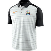 Nike Men's Miami Marlins Striped Polo