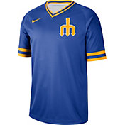 Nike Men's Seattle Mariners Cooperstown V-Neck Pullover Jersey