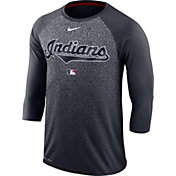 Nike Men's Cleveland Indians Dri-FIT Authentic Collection Legend Three-Quarter Sleeve Shirt