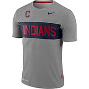 Nike Men's Cleveland Indians Dri-FIT Stripe Wordmark T-Shirt