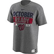 "Nike Men's Washington Nationals 2017 MLB Postseason Dri-FIT Authentic Collection ""October Ready"" Grey T-Shirt"