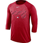 Nike Men's Washington Nationals Dri-FIT Authentic Collection Legend Three-Quarter Sleeve Shirt