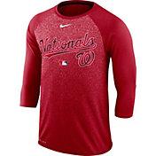Nike Men's Washington Nationals Dri-FIT Authentic Collection Legend Three-Quarter Sleeve Shirt
