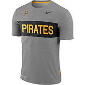 Nike Men's Pittsburgh Pirates Dri-FIT Stripe Wordmark T-Shirt