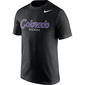Nike Men's Colorado Rockies Dri-FIT Script T-Shirt