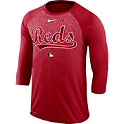 Nike Men's Cincinnati Reds Dri-FIT Authentic Collection Legend Three-Quarter Sleeve Shirt