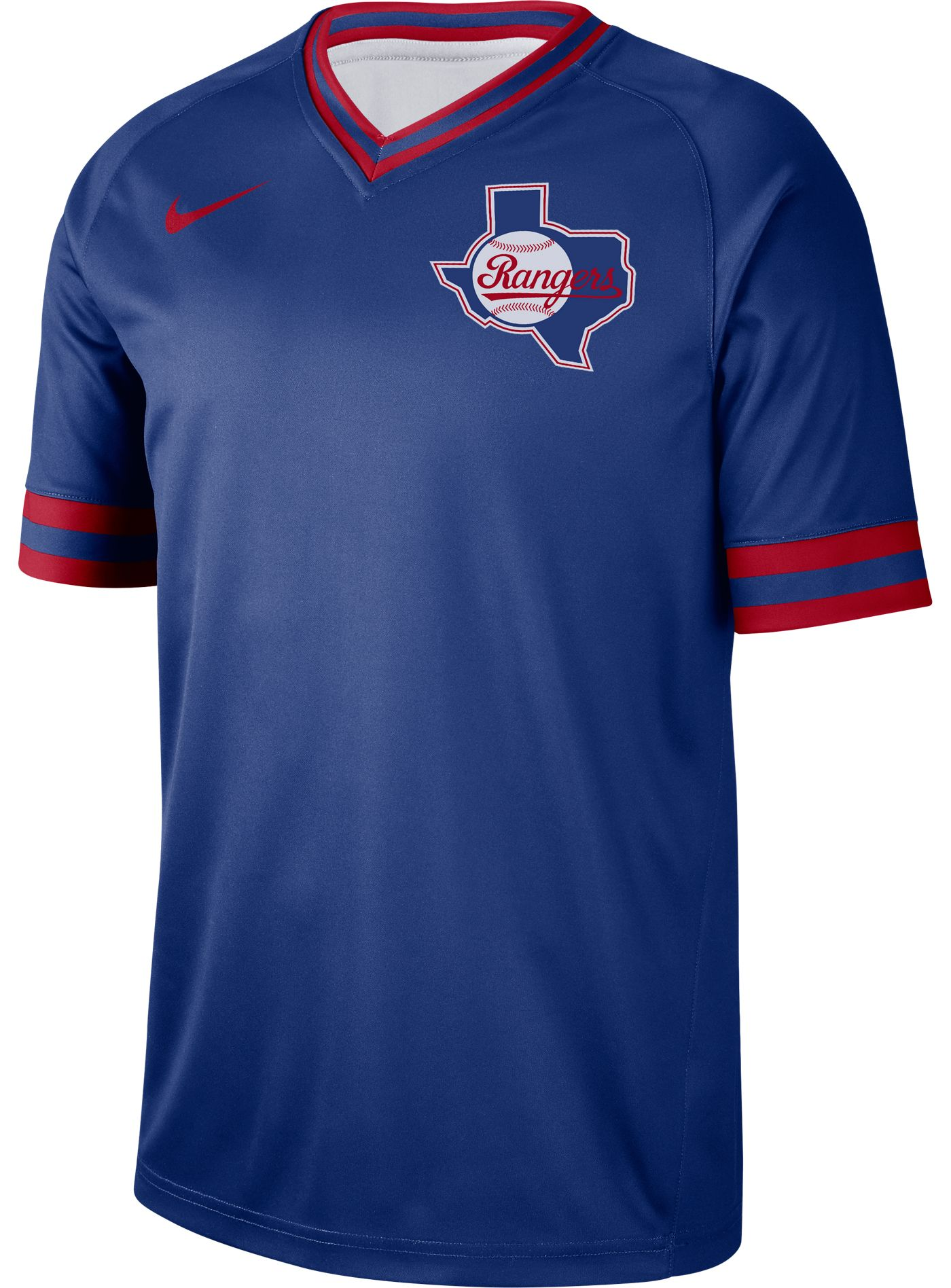 Nike Men's Texas Rangers Cooperstown V-Neck Pullover Jersey