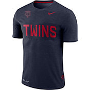 Nike Men's Minnesota Twins Dri-FIT Stripe Wordmark T-Shirt
