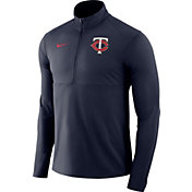 Nike Men's Minnesota Twins Dri-FIT Element Half-Zip Jacket