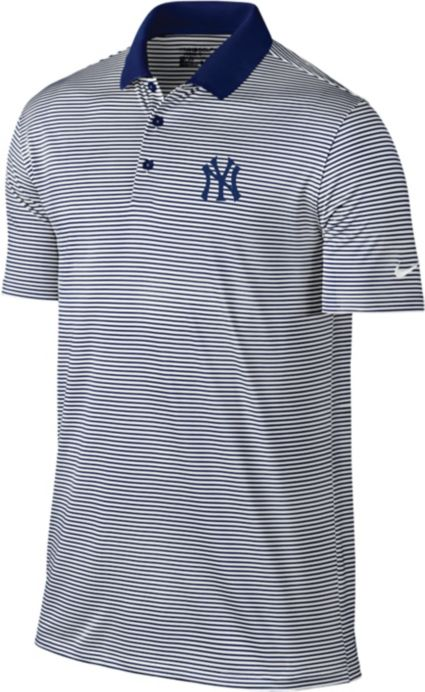 Nike Men s New York Yankees Dri-FIT Navy Victory Mini Stripe Polo.  noImageFound 44c41cadf10