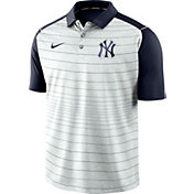 Nike Men's New York Yankees Striped Polo