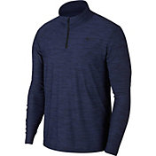 Nike Men's Breathe Dry Quarter Zip Long Sleeve Shirt
