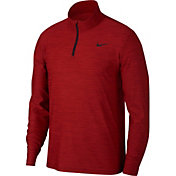 Nike Men's Breathe Dry Quarter Zip Long Sleeve Shirt