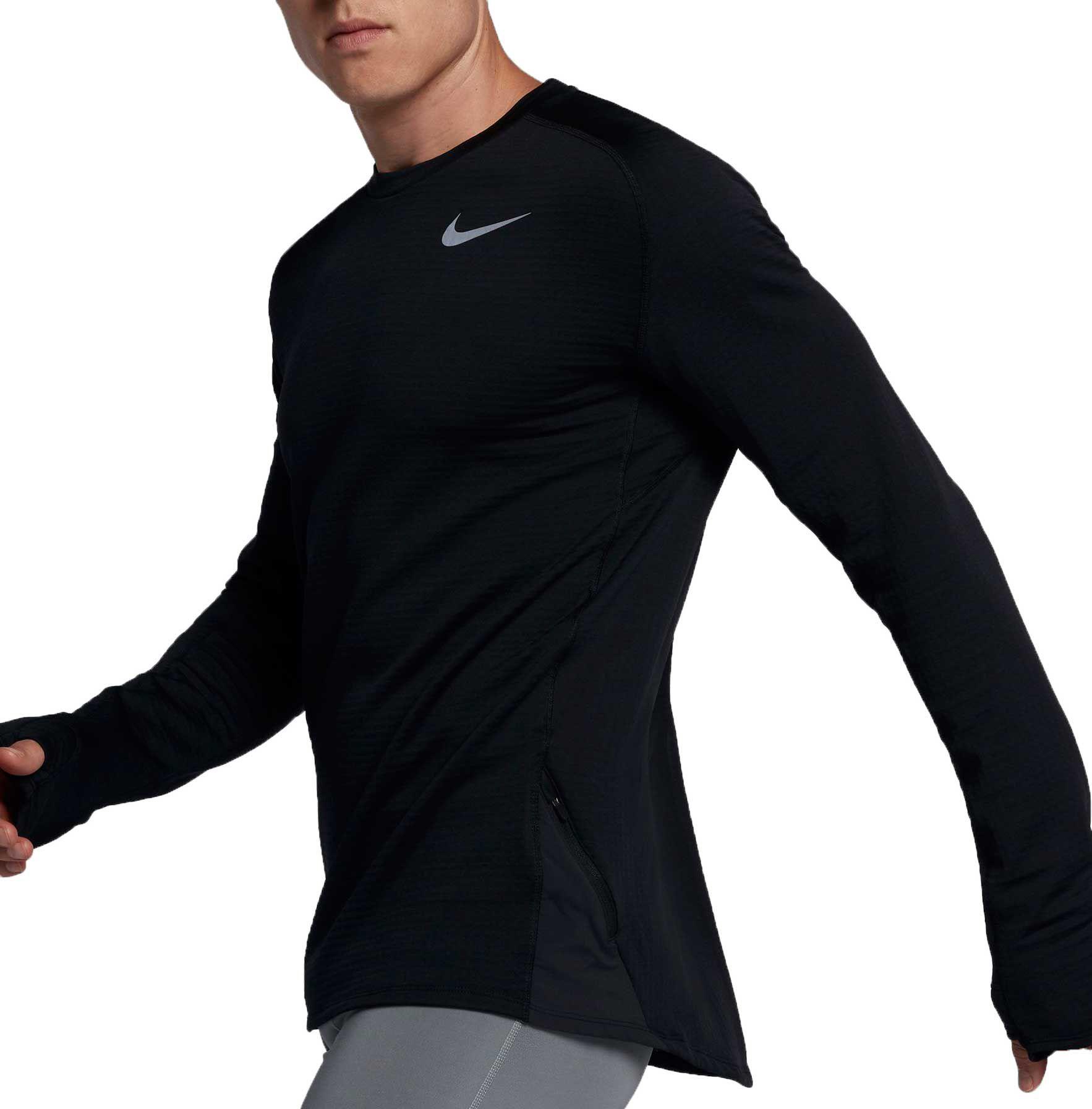 baec5d22 Nike Men's Therma Sphere Element Long Sleeve Crew Running Shirt ...